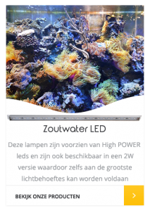 Zoutwater aquarium LED